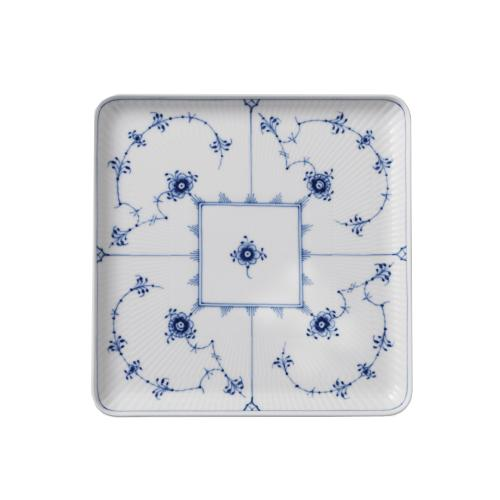 Blue Fluted Plain Square Plate by Royal Copenhagen