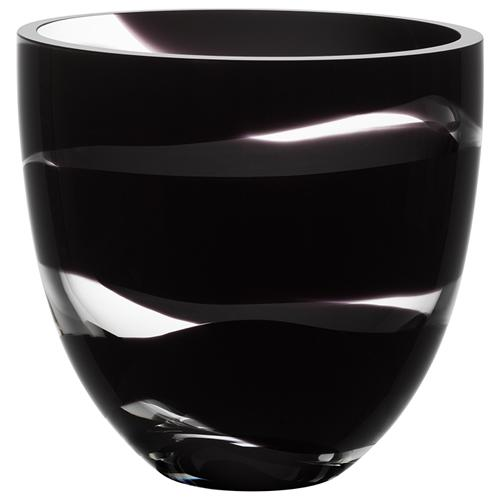 "Non Stop 9"" Black Bowl by Anna Ehrner for Kosta Boda"