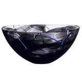 "Contrast 13"" Black Bowl by Anna Ehrner for Kosta Boda"