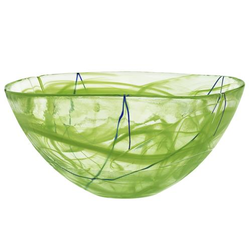 "Contrast 13"" Lime Green Bowl by Anna Ehrner for Kosta Boda"
