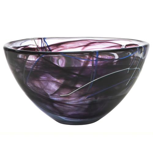 "Contrast 9"" Black Bowl by Anna Ehrner for Kosta Boda"