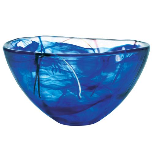 "Contrast 9"" Blue Bowl by Anna Ehrner for Kosta Boda"