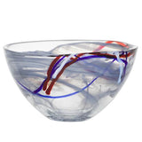 "Contrast 6"" Grey Bowl by Anna Ehrner for Kosta Boda"