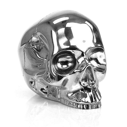 Brass Skull Paperweight by DL & Company