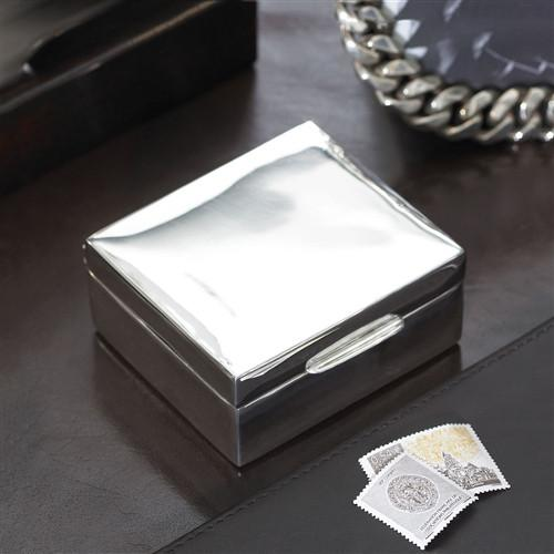 Brewster Silverplated Trinket Box by Ralph Lauren