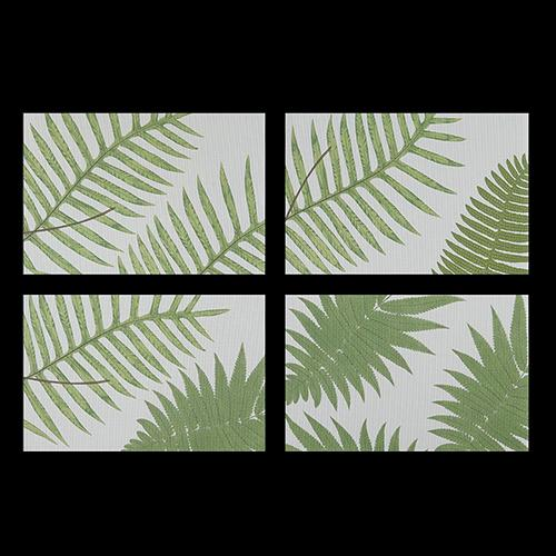 Chilewich: British Fern Woven Vinyl Placemats, Set of 4