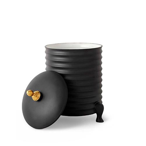 Han Tea Canister with Lid, Black by L'Objet