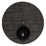 Chilewich: Basketweave Woven Vinyl Placemats Sets of 4 Black, Round
