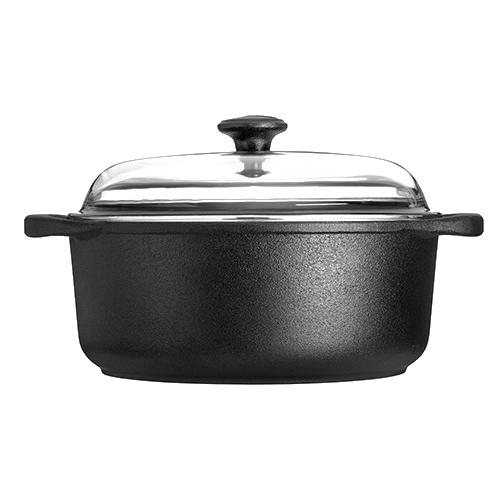 "Cast Iron Casserole with Lid, 135 oz."" by Skeppshult Sweden"