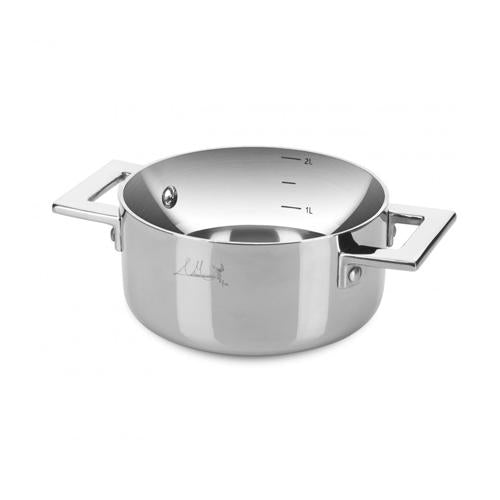 Attiva Peltro Casserole Two Handle by Mepra