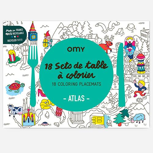 Atlas COLOR ME Paper Placemats, Set of 18 by Omy France