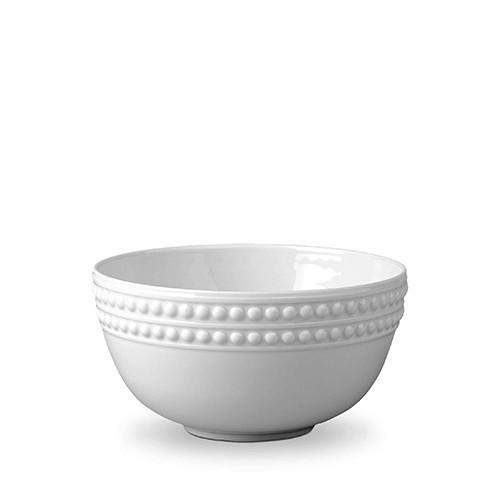 Perlee White Cereal Bowl by L'Objet