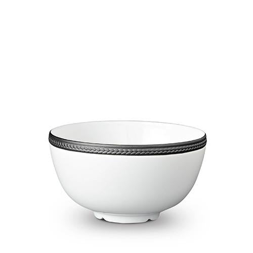 Soie Tressee Black Cereal Bowl by L'Objet
