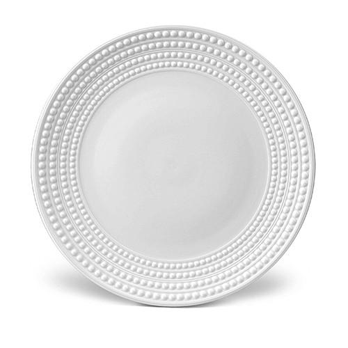 Perlee White Charger Plate by L'Objet