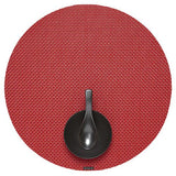 Chilewich: Basketweave Woven Vinyl Placemats Sets of 4 Red, Round