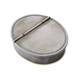 Oval Lidded Cigar Ashtray by Match Pewter