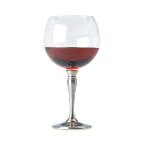Classic Balloon Red Wine Glass by Match Pewter