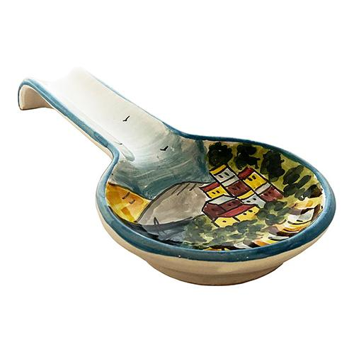 "Italian Coast Spoon Rest, 11"" x 4.5"" by Abbiamo Tutto"