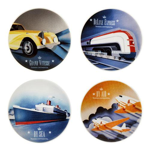 Transcontinental Coasters, Set of 4 by Vista Alegre