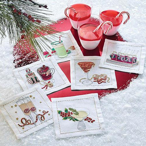 Holiday Cheer Napkins, set of 6 by Kim Seybert