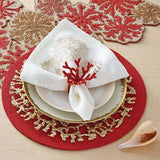 Round Coral Table Runner by Kim Seybert