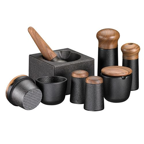 Cast Iron and Wood Pepper or Spice Grinder, 4