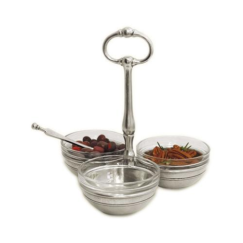 Trio Condiment Server by Match Pewter