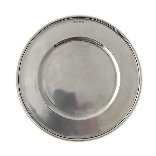 Convivio All Pewter Charger by Match Pewter