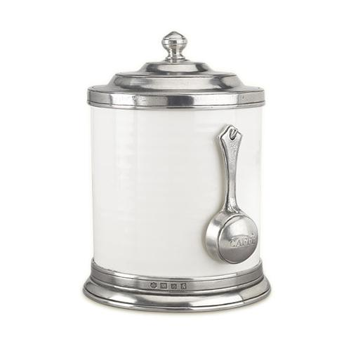 Convivio Coffee Canister with Scoop by Match Pewter
