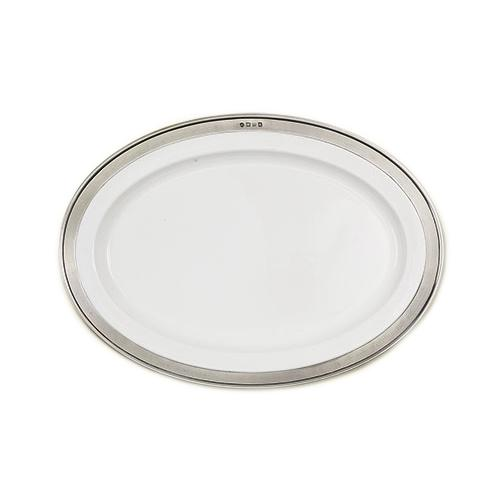 Convivio Oval Serving Platter by Match Pewter