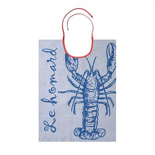 Le Homard Lobster 100% Cotton Jacquard Bib