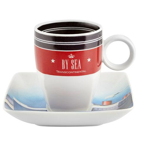 Transcontinental Coffee Cups & Saucers, Set of 4 by Vista Alegre