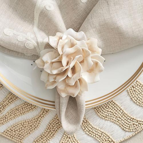 Dahlia Napkin Ring Set of 4 by Kim Seybert