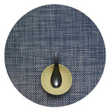 Chilewich: Basketweave Woven Vinyl Placemats Sets of 4 Blue, Round