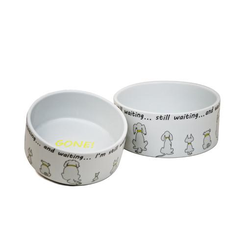 Still Waiting Dog Bowls by Constance Depler