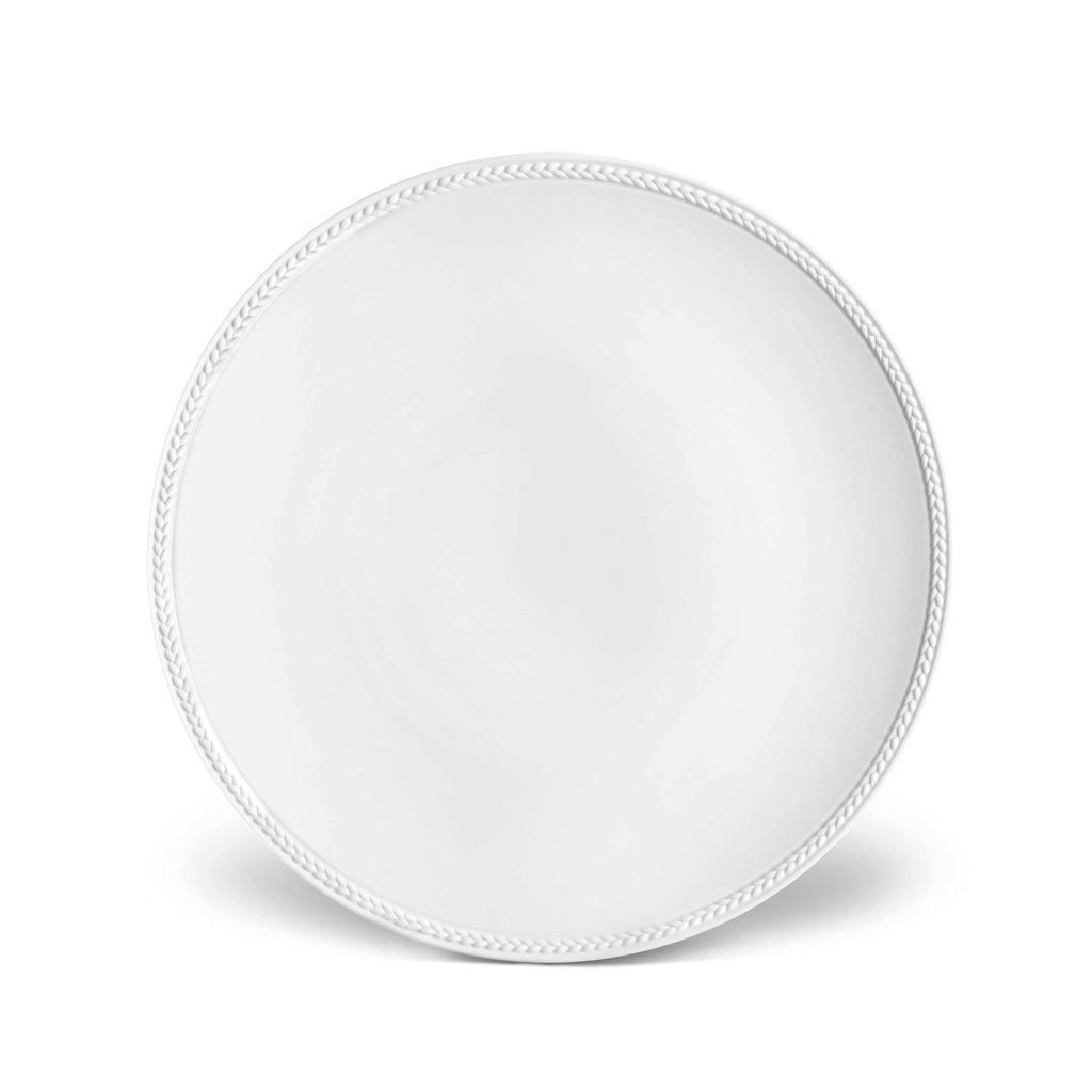 Soie Tressee White Dinner Plate by L'Objet