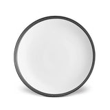 Soie Tressee Black Dinner Plate by L'Objet