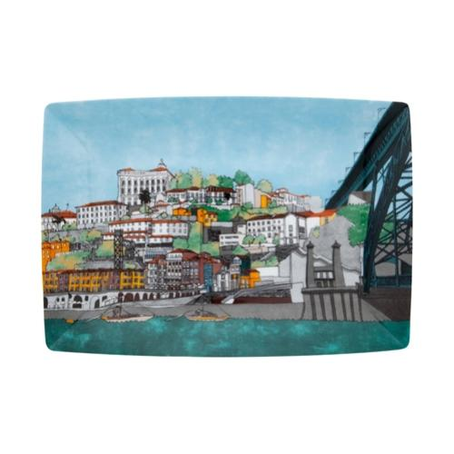 Alma do Porto Rectangular Plate by Beatriz Lamanna for Vista Alegre