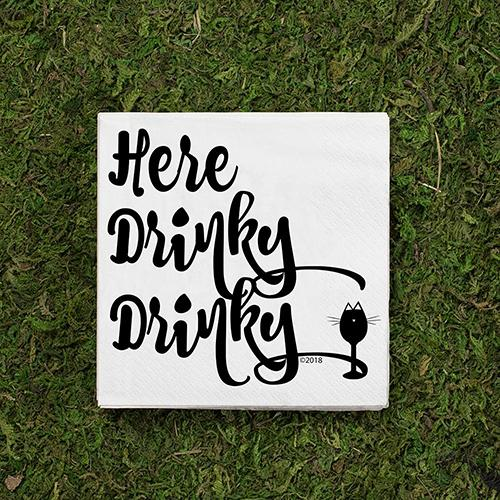 Here Drinky Drinky Cocktail Napkins by Twisted Wares