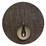 Chilewich: Basketweave Woven Vinyl Placemats Sets of 4 Brown, Round
