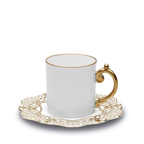 Alencon Gold Espresso Cup & Saucer by L'Objet