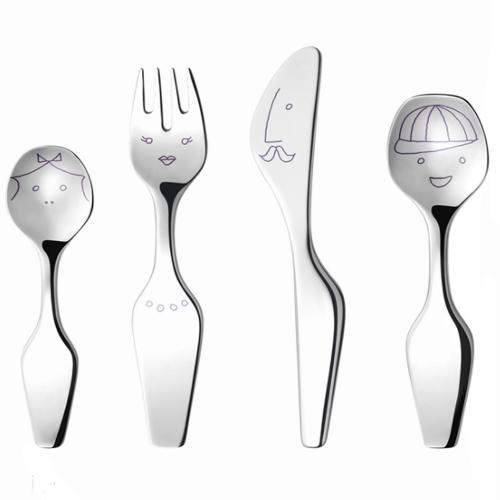 Twist Family Cutlery 4 Piece Set by Alfredo Häberli for Georg Jensen