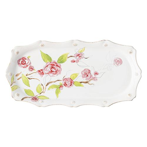 "Berry & Thread Floral Sketch 14"" Hostess Serving Tray by Juliska"