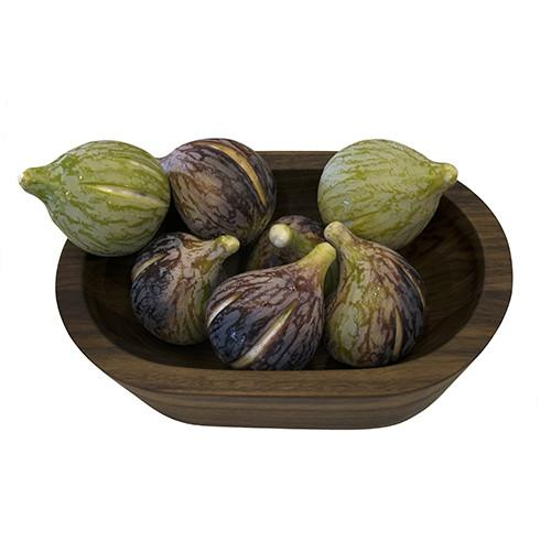 Fig Italian Carrara Marble Stone Fruit