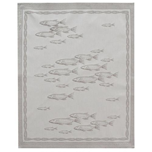 Lake Fish Natural Cotton Kitchen Towel, 31