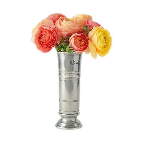 "Footed Cylinder Vase, 6.7"" by Match Pewter"