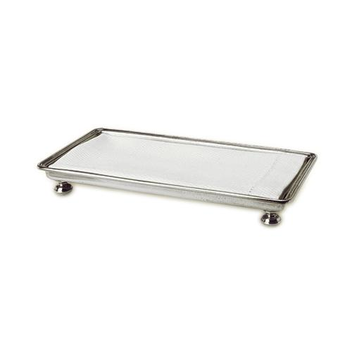 Footed Guest Towel Tray by Match Pewter
