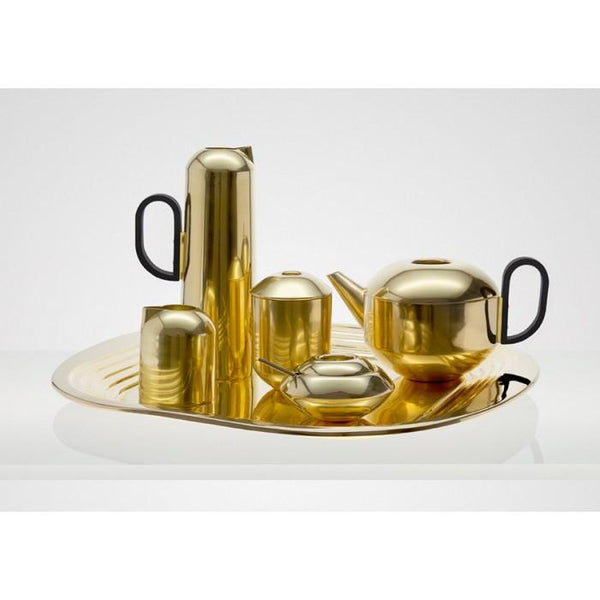 Form Tea Set: Tray, Teapot, Creamer and Sugar by Tom Dixon