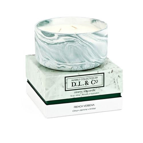 Marbled Collection: French Verbena Candle by DL & Company