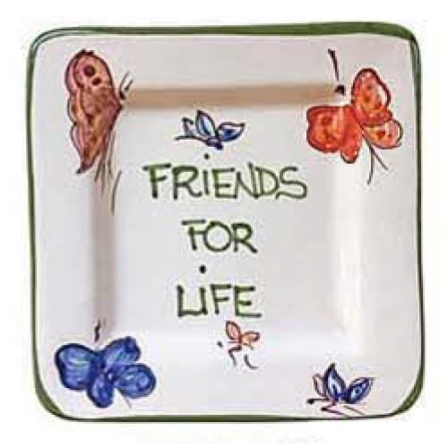 "Friends For Life Small Tray, 5"" x 5"" by Abbiamo Tutto"
